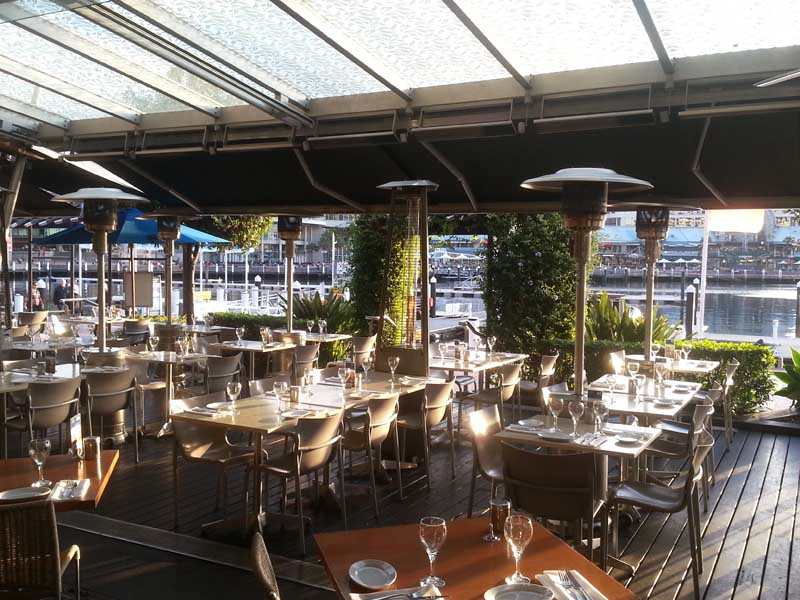 Commercial Awnings @ Cockle Bay Wharf by Helioscreen